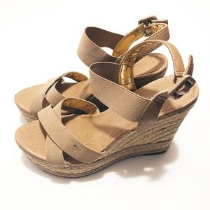 Charles by Charles David Tan Strappy Wedges 7.5